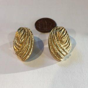 Monet gold clip earrings